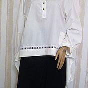 Одежда handmade. Livemaster - original item Shirt white. Handmade.