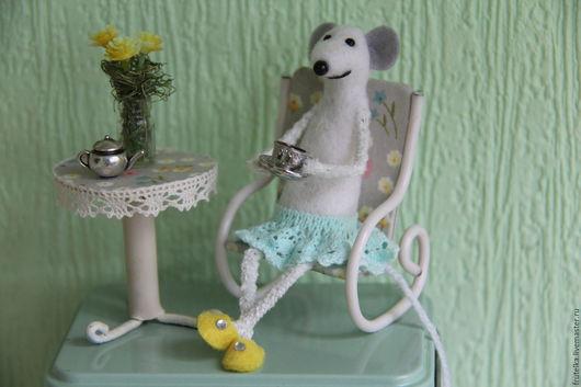 Персональные подарки ручной работы. Ярмарка Мастеров - ручная работа. Купить Мятная фантазия (мышка на банке для чая, трав). Handmade.