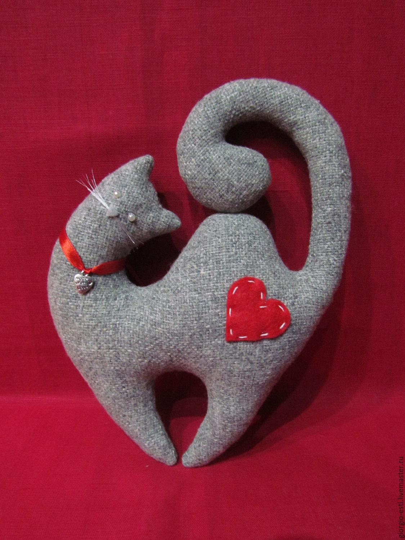 """Мягкая игрушка - """"Влюбленный кот"""", Тильда Зверята, Балашиха,  Фото №1"""