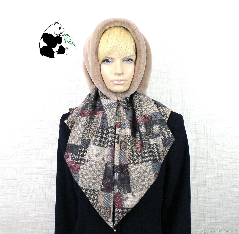 Designer fur scarf from ecomega. Three colors, Shawls1, Ekaterinburg,  Фото №1