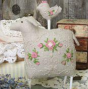 Для дома и интерьера ручной работы. Ярмарка Мастеров - ручная работа Интерьерная игрушка Счастливая овечка. Handmade.