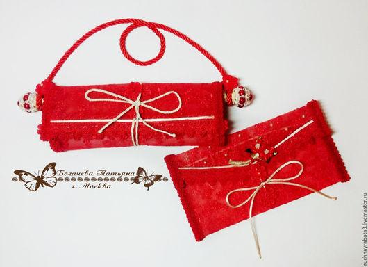 Персональные подарки ручной работы. Ярмарка Мастеров - ручная работа. Купить Поздравительный свиток и конверт для денег. Handmade. Ярко-красный