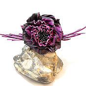 Украшения ручной работы. Ярмарка Мастеров - ручная работа роза из кожи. Handmade.