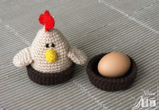 """Новый год 2017 ручной работы. Ярмарка Мастеров - ручная работа. Купить Грелка для яиц """"Петушок"""". Handmade. Комбинированный, вязание на заказ"""