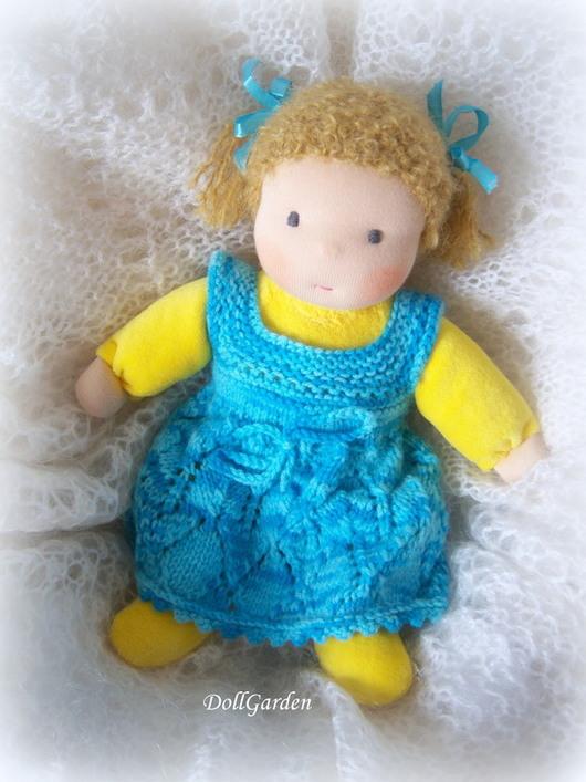 Вальдорфская игрушка ручной работы. Ярмарка Мастеров - ручная работа. Купить Лимонная Долька, вальдорфская кукла в пришивном комбинезоне. Handmade.