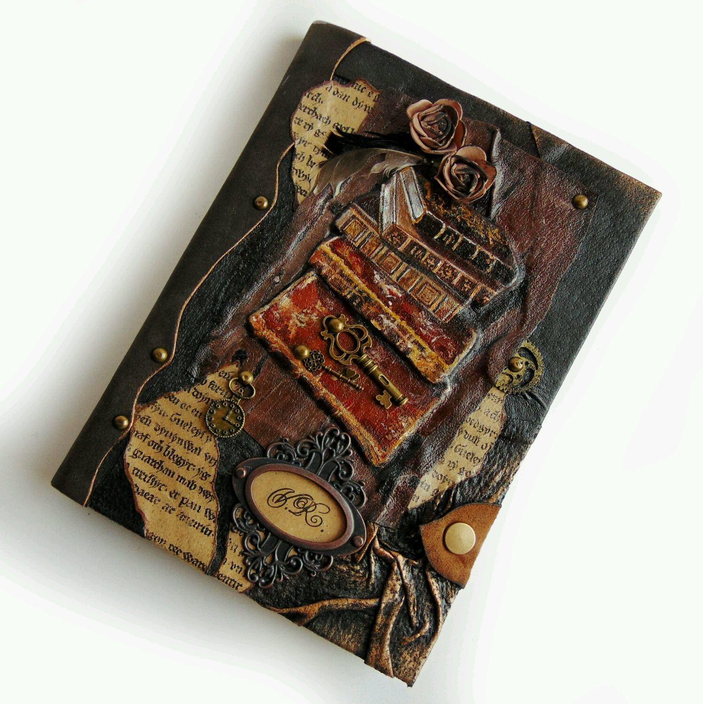 """Ежедневник кожаный """"Старинные книги"""", Ежедневники, Самара, Фото №1"""