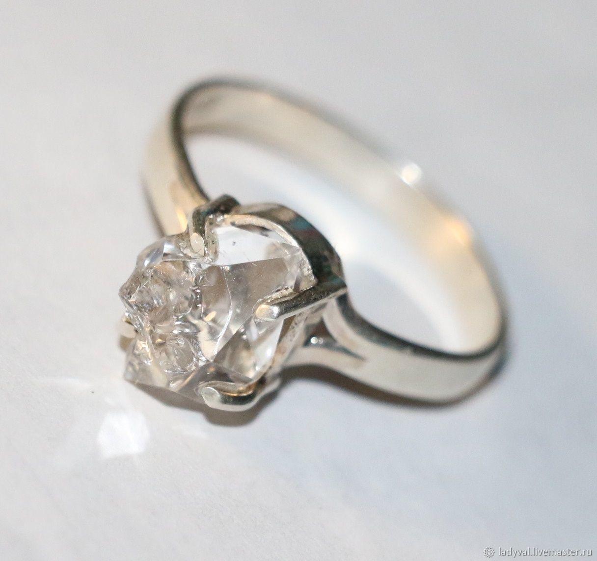 бриллиант геркмайера алмаз херкимера серебро 925, Кольца, Москва,  Фото №1