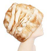 Аксессуары handmade. Livemaster - original item Sand-colored mink fur cap. Handmade.