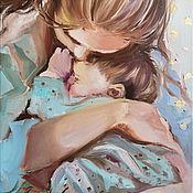 Картины и панно handmade. Livemaster - original item Gentle day: August. the picture of motherhood. Handmade.