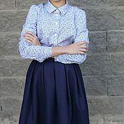 """Одежда ручной работы. Ярмарка Мастеров - ручная работа """"Зимняя"""". Плотная шерстяная юбка на поясе со складками. Handmade."""