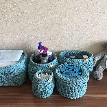 Для дома и интерьера ручной работы. Ярмарка Мастеров - ручная работа Набор корзин для дома. Handmade.