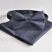 Аксессуары handmade. Livemaster - original item Gray blue tie Dandy pocket square Pasha to choose. Handmade.