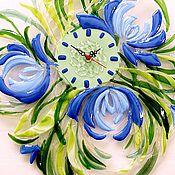 """Для дома и интерьера ручной работы. Ярмарка Мастеров - ручная работа Фьюзинг часы """"Вечная весна"""" стекло фьюзинг. Handmade."""