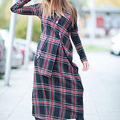 Одежда handmade. Livemaster - original item Dress made from blended cotton, the Dress is asymmetrical - DR0118PM. Handmade.