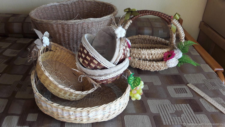 Сухарницы, плетеные подносы, корзины, Корзины, Москва,  Фото №1