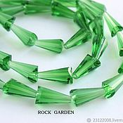 Материалы для творчества handmade. Livemaster - original item Cone bead%#%16h7mm green (113). Handmade.