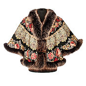 "Одежда handmade. Livemaster - original item Cape-avtoledi of Pavlovo Posad shawl ""Prayer,"" 353-20 / 187. Handmade."