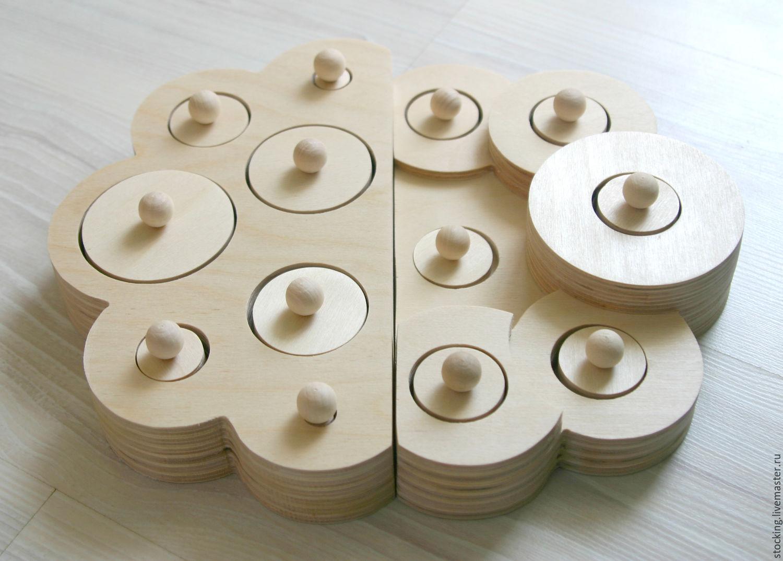 Развивающие игрушки ручной работы. Ярмарка Мастеров - ручная работа. Купить Развивающая игрушка Волшебные цилиндры. Handmade. Развивающие игрушки
