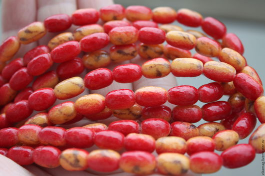 Для украшений ручной работы. Ярмарка Мастеров - ручная работа. Купить Коралловый известняк, овальные бусины 10 мм. Handmade.