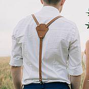 Портупеи ручной работы. Ярмарка Мастеров - ручная работа Подтяжки кожаные, свадебные подтяжки. Handmade.