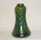 Винтаж handmade. Livemaster - original item vase. Color GREEN glass 19th century metal. Lets . Loetz. Handmade.