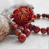 Украшения handmade. Livemaster - original item Earrings with red Jasper