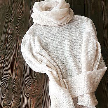 """Одежда ручной работы. Ярмарка Мастеров - ручная работа Пуловер """"Молочный"""". Handmade."""