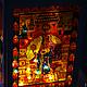 """Подсвечники ручной работы. Фонарь """"Сказки Пушкина"""". Перфект•studio роспись/декор. Ярмарка Мастеров. Подарок девушке, декор для интерьера, витражные краски"""