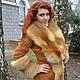 Верхняя одежда ручной работы. Ярмарка Мастеров - ручная работа. Купить Элегантное пальто-френч замш с мехом лисы. Handmade.