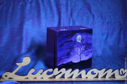 """Шкатулки ручной работы. Ярмарка Мастеров - ручная работа. Купить Шкатулка """"Самая темная ночь перед рассветом"""". Handmade. Фиолетовый"""