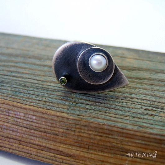 """Кольца ручной работы. Ярмарка Мастеров - ручная работа. Купить Серебряное кольцо """"Кто я..."""". Handmade. Серебряный, кольцо с турмалином"""