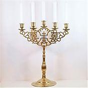 Винтаж handmade. Livemaster - original item Brass candelabra, candlestick, Germany.. Handmade.