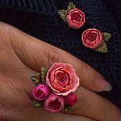 """Украшения ручной работы. Ярмарка Мастеров - ручная работа Комплект Английские розы Set """"English Roses"""". Handmade."""