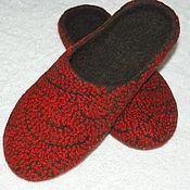 """Обувь ручной работы. Ярмарка Мастеров - ручная работа Тапочки женские валяные """"Гранат"""". Handmade."""