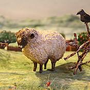 Куклы и игрушки ручной работы. Ярмарка Мастеров - ручная работа Овечка игрушка из ваты. Handmade.