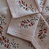 Для дома и интерьера ручной работы. Ярмарка Мастеров - ручная работа Скатерть льняная с салфетками Ворожея. Handmade.