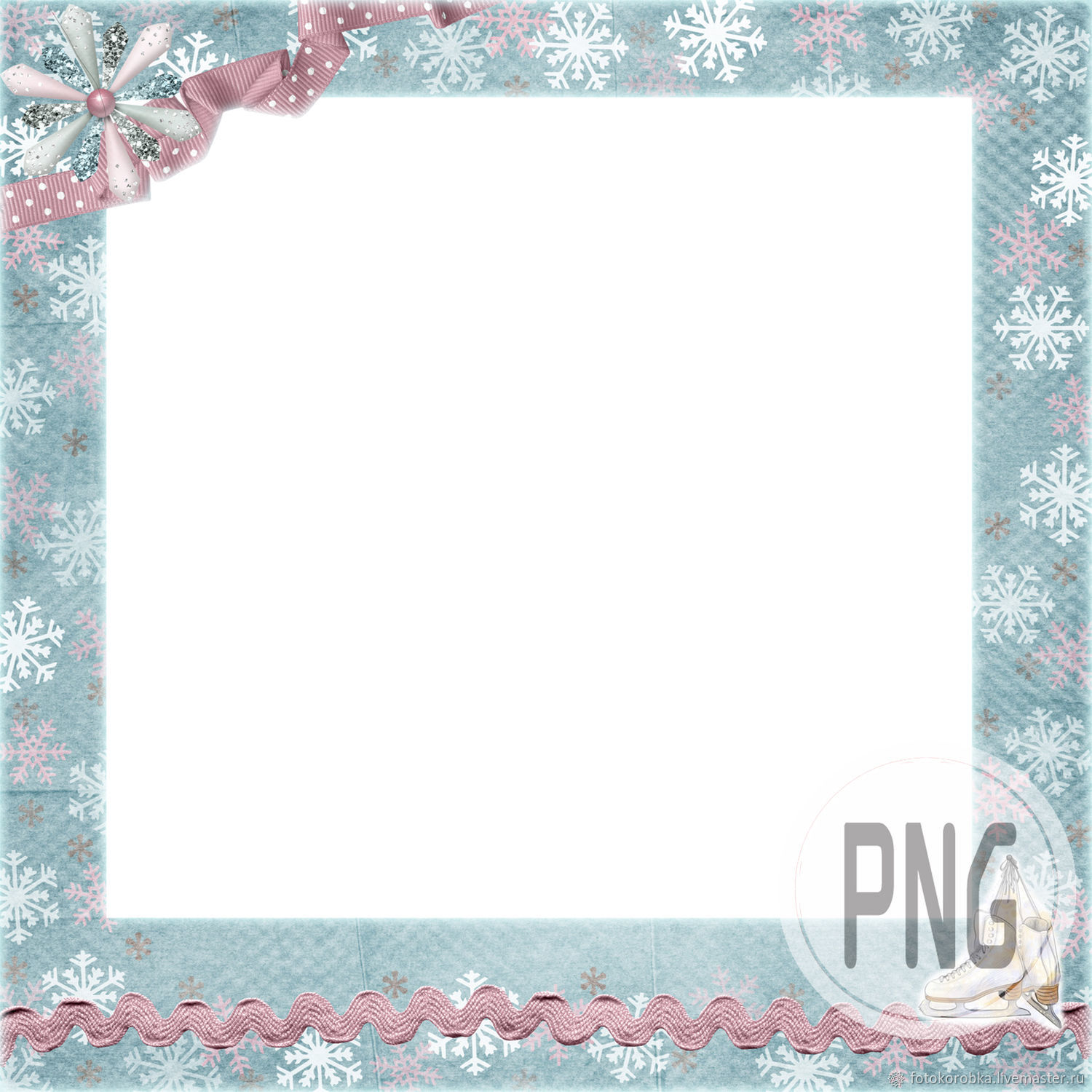 PNG photo frame-winter scrap, Photo, Moscow,  Фото №1