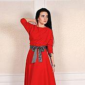 Платья ручной работы. Ярмарка Мастеров - ручная работа Платье красное. Handmade.