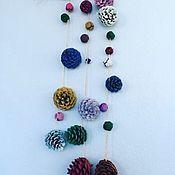 Для дома и интерьера handmade. Livemaster - original item Suspension: Garlands of cones. Handmade.