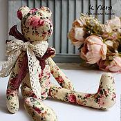 Куклы и игрушки ручной работы. Ярмарка Мастеров - ручная работа Тильда мишка в стиле Шебби Большой 40см. Handmade.