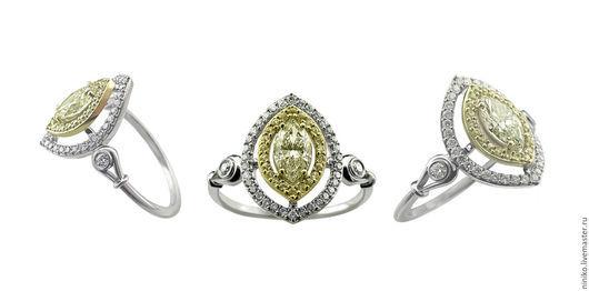 Кольцо `Елизавета` из золота.
