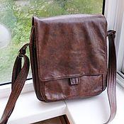 Сумки и аксессуары handmade. Livemaster - original item Men`s leather bag for George A La Brialdi Lukka red. Handmade.