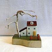 Сувениры и подарки ручной работы. Ярмарка Мастеров - ручная работа миниатюра с деревом. Handmade.