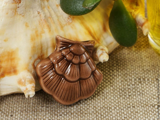 Для украшений ручной работы. Ярмарка Мастеров - ручная работа. Купить Аромакулон керамический №10 (коричневый). Handmade. Аромакулон, ароматерапия