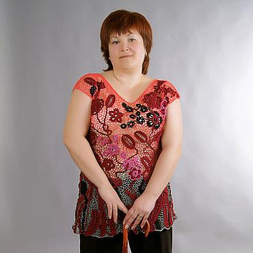 Одежда ручной работы. Ярмарка Мастеров - ручная работа Сумерки красят Туника вязаная Ирландское кружево. Handmade.