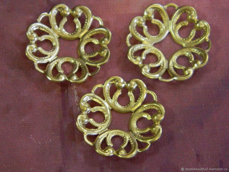 Connector filigree brass 20h20 mm piece, Beads1, Saratov,  Фото №1