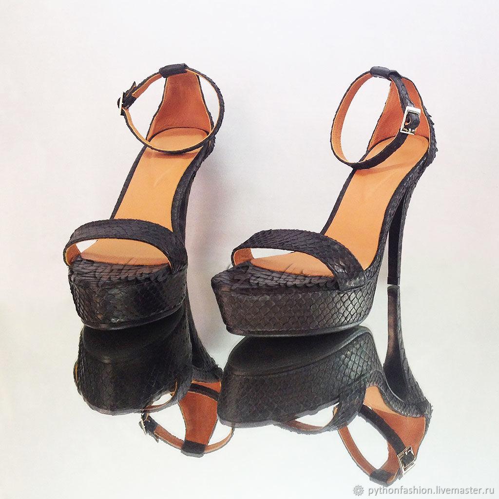 Offspring Python leather sandals, Slingbacks, Kuta,  Фото №1