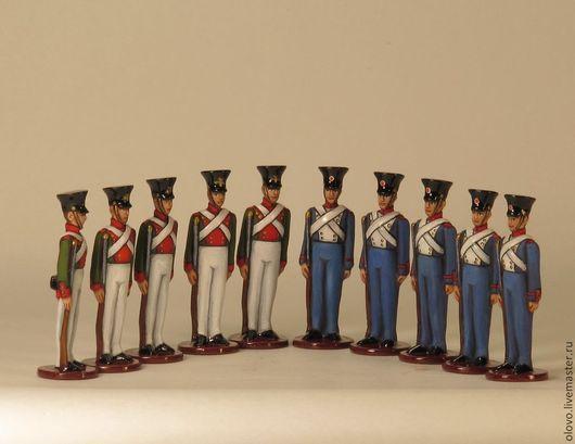 """Миниатюрные модели ручной работы. Ярмарка Мастеров - ручная работа. Купить """"Оловянные солдатики"""" (для детей) 10 шт. 40 мм.. Handmade."""