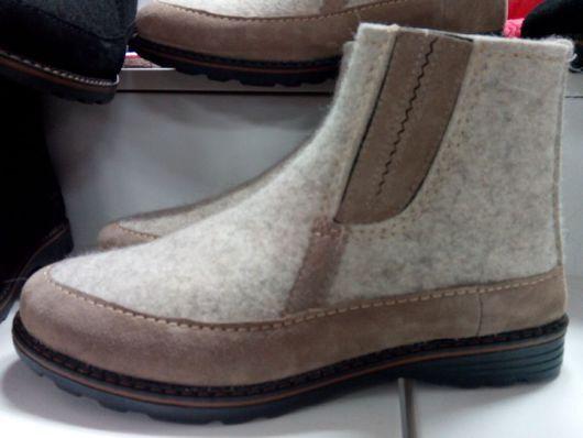 Обувь ручной работы. Ярмарка Мастеров - ручная работа. Купить Ботинки зимние Стиль. Handmade. Черный, Ботинки из войлока, войлок