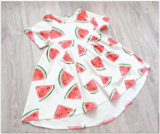 Одежда для девочек, ручной работы. Ярмарка Мастеров - ручная работа. Купить Платье с арбузами. Handmade. Комбинированный, платье, платье на заказ